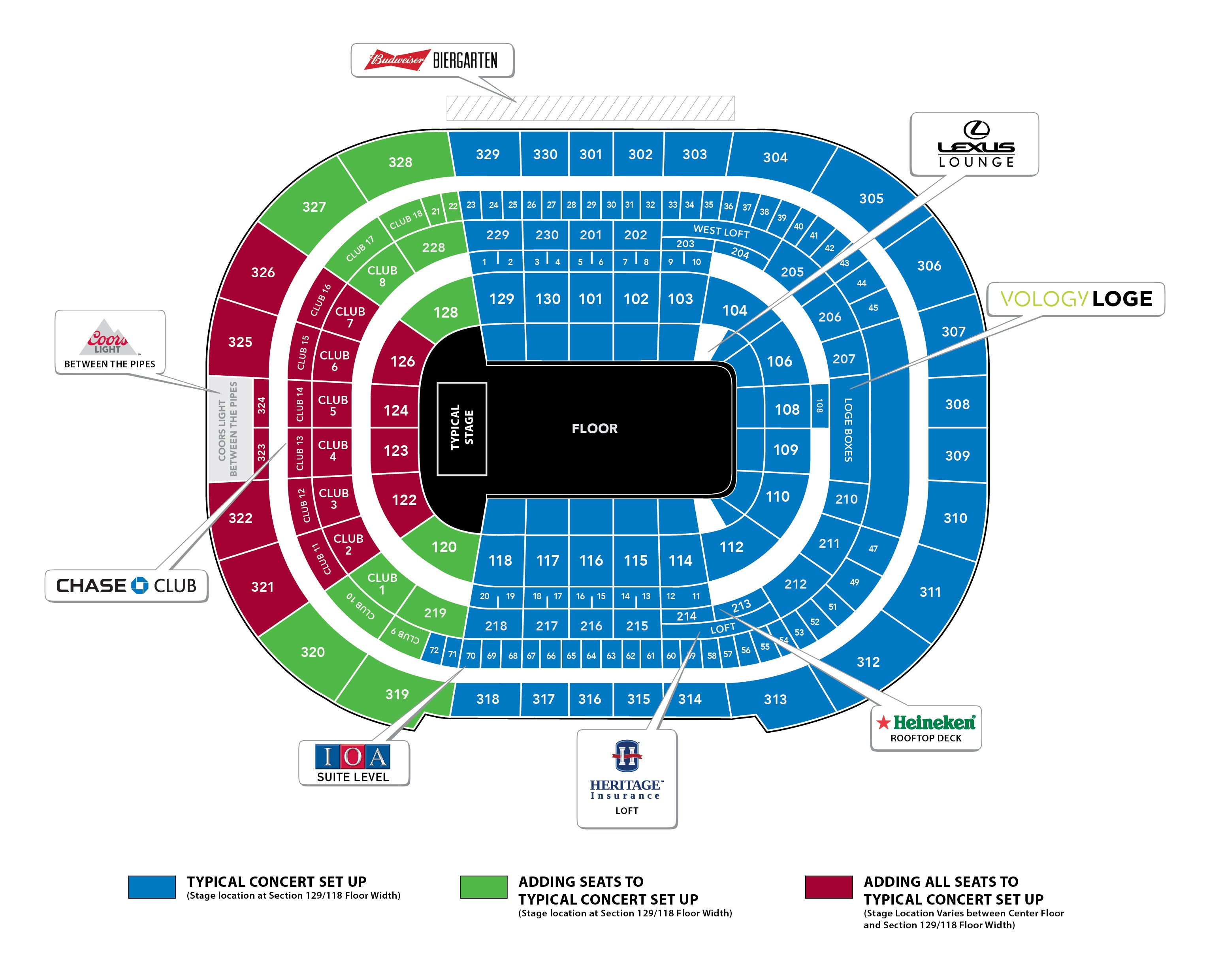 Concerts Events Seating Map