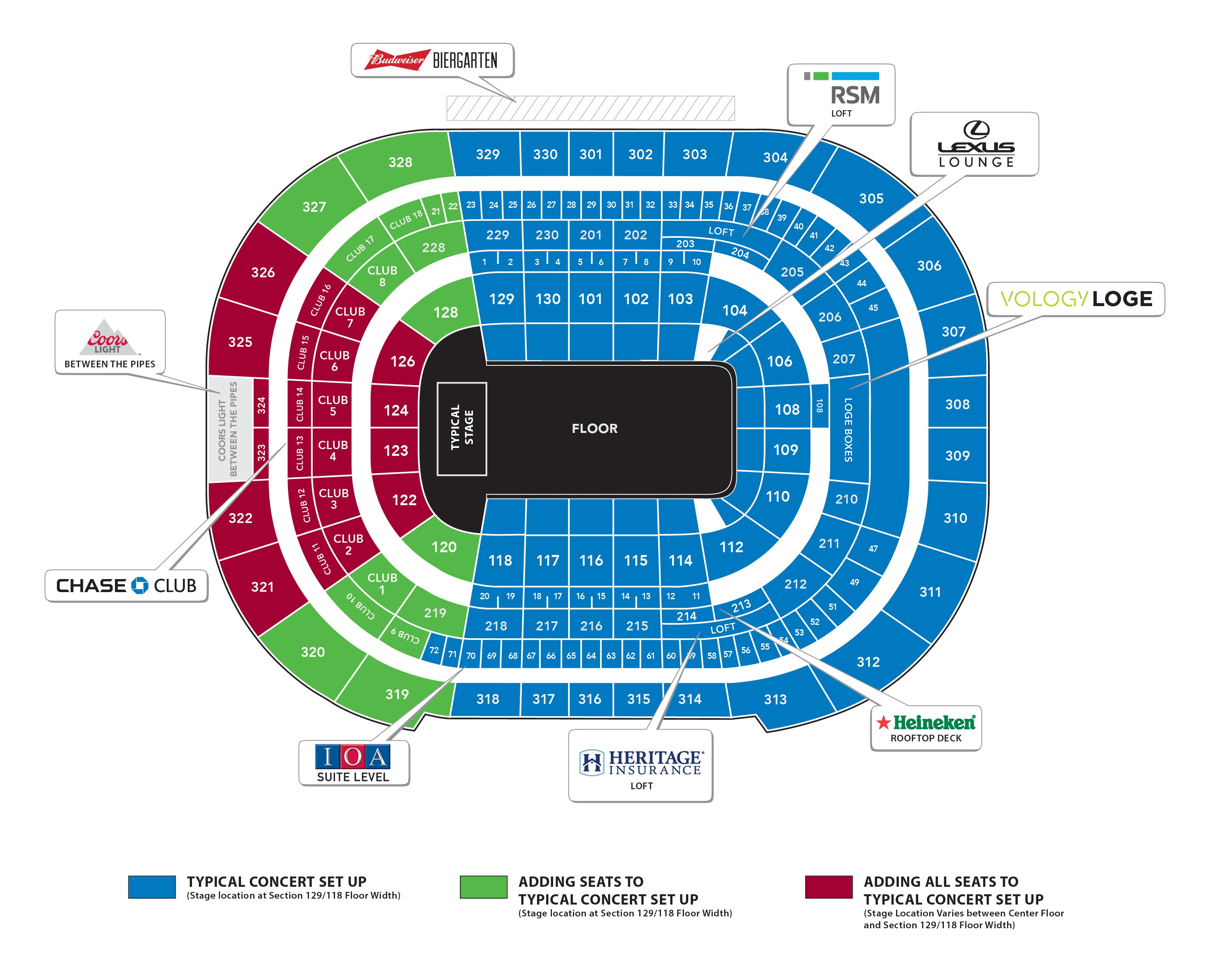 Seating Charts Amalie Arena