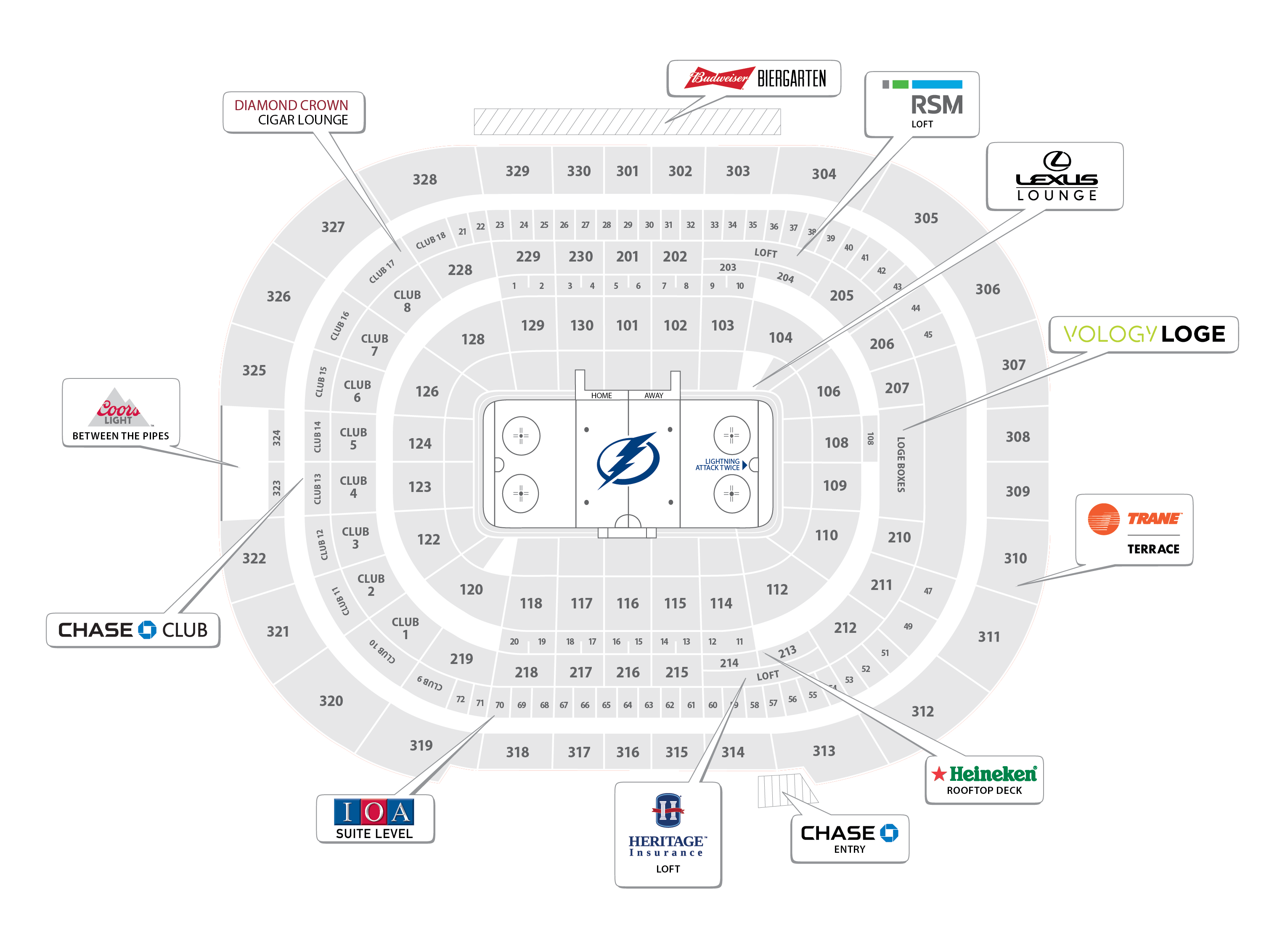 Seating Chart for Tampa Bay Lightning