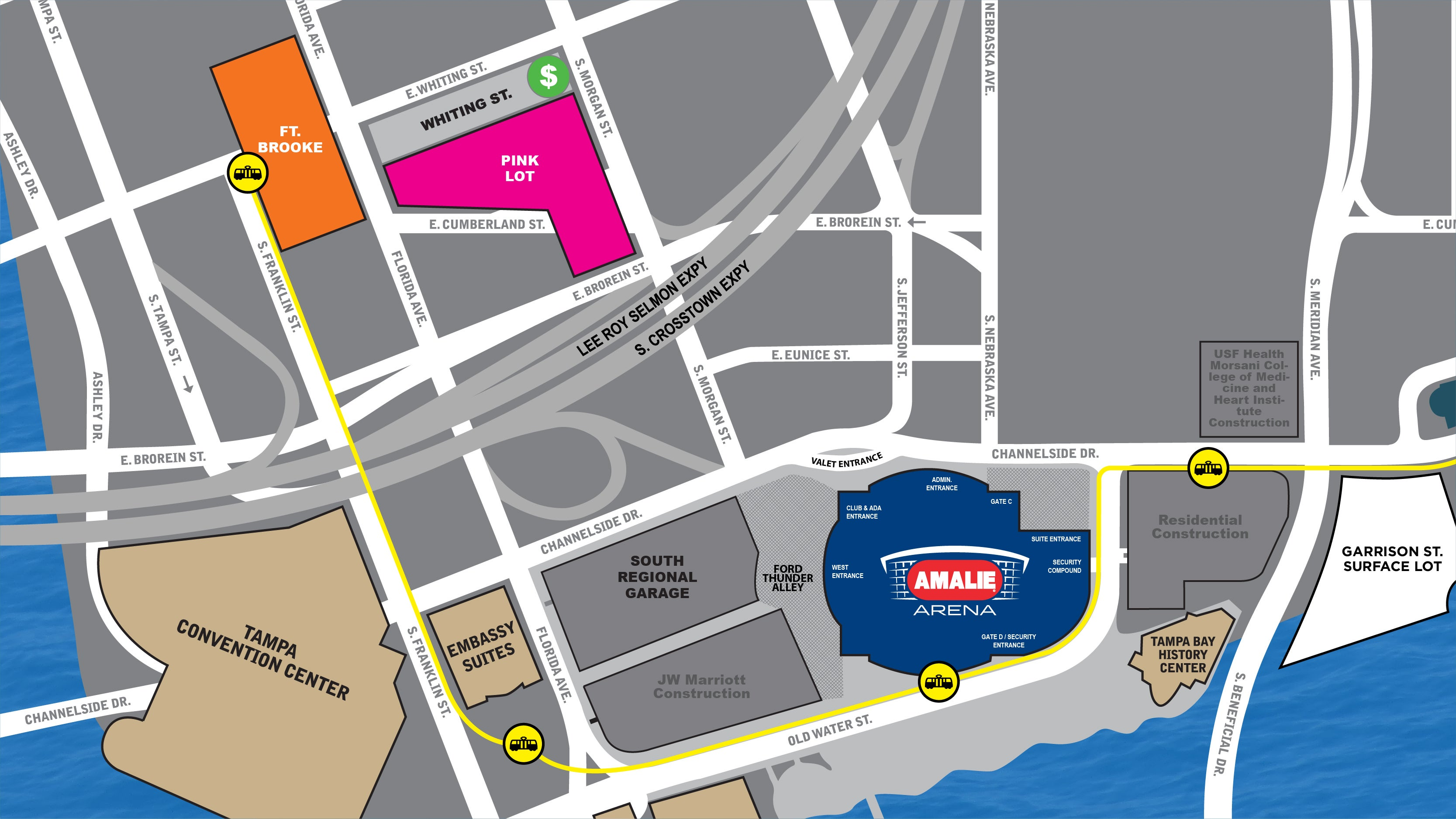 Parking | Amalie Arena on